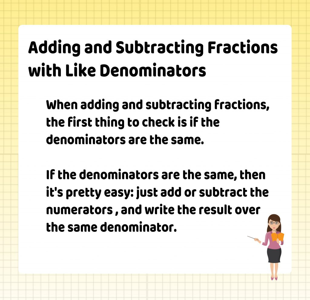 Adding and Subtracting Fractions with Like Denominators, Themba Tutors