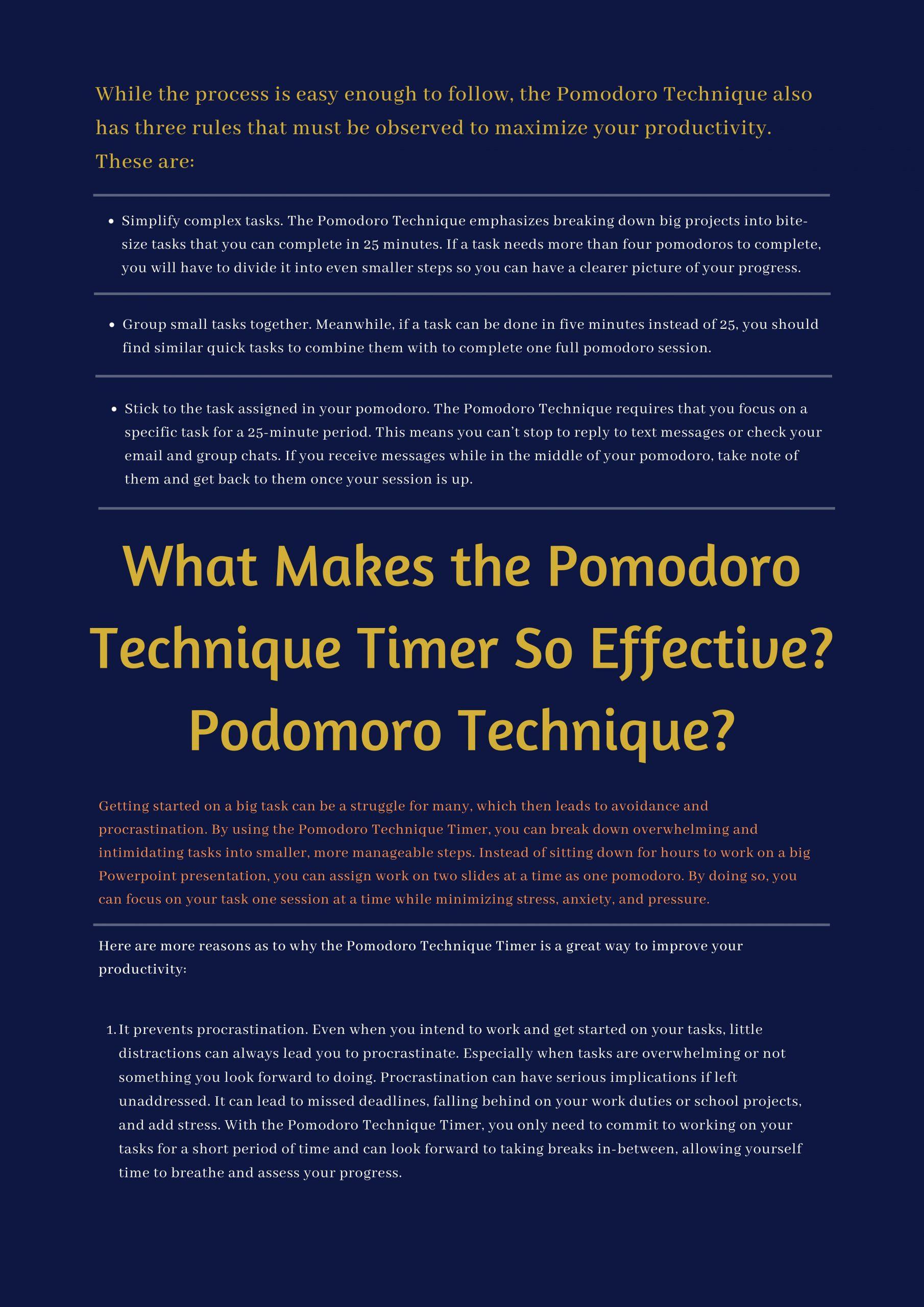 Pomodoro Technique Timer, Themba Tutors